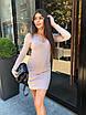 Базовое платье с декольте, до середины бедра (р. 42-48) 50ty692, фото 8