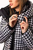 Зимнее принтованное Пальто из плащевки длиной макси, с капюшоном (р. 42-50) 83lt321, фото 8