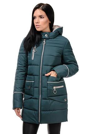 Зимняя куртка «Пэм», 42-48, арт.248 зеленый, фото 2