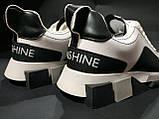 Кросівки білі з чорним, фото 3