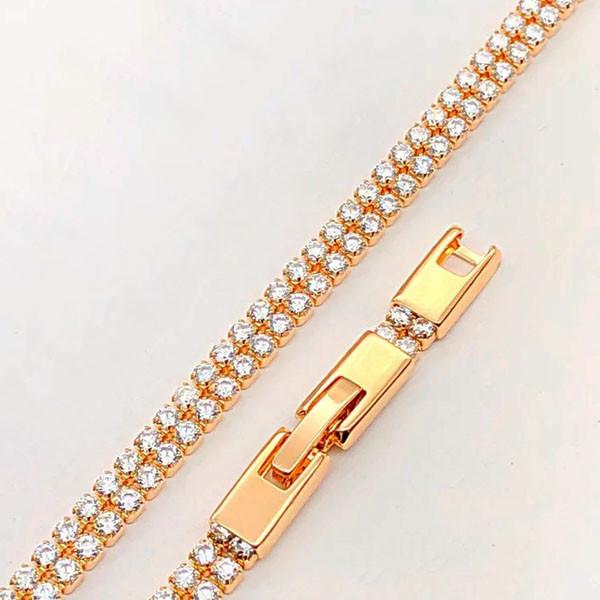 Браслет Xuping Jewelry 16,5/19 см Двойное медицинское золото позолота 18К А/В 4-0096
