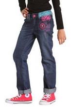 Демисезонные детские джинсы для девочки Desigual Испания 47D3078 Синий