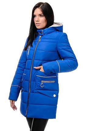 Зимняя куртка «Пэм», 42-48, арт.248 электрик, фото 2