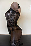 Сексуальна боді сітка сексуальная боди-сетка с рисунком эротическое белье, фото 3