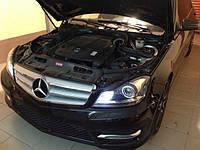НАШИ РАБОТЫ: Mercedes-Benz C350 4-MATIC решетка в черный