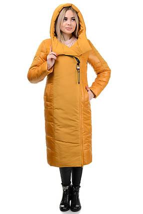 Пальто «Сара», 44-52, арт.276 горчица, фото 2