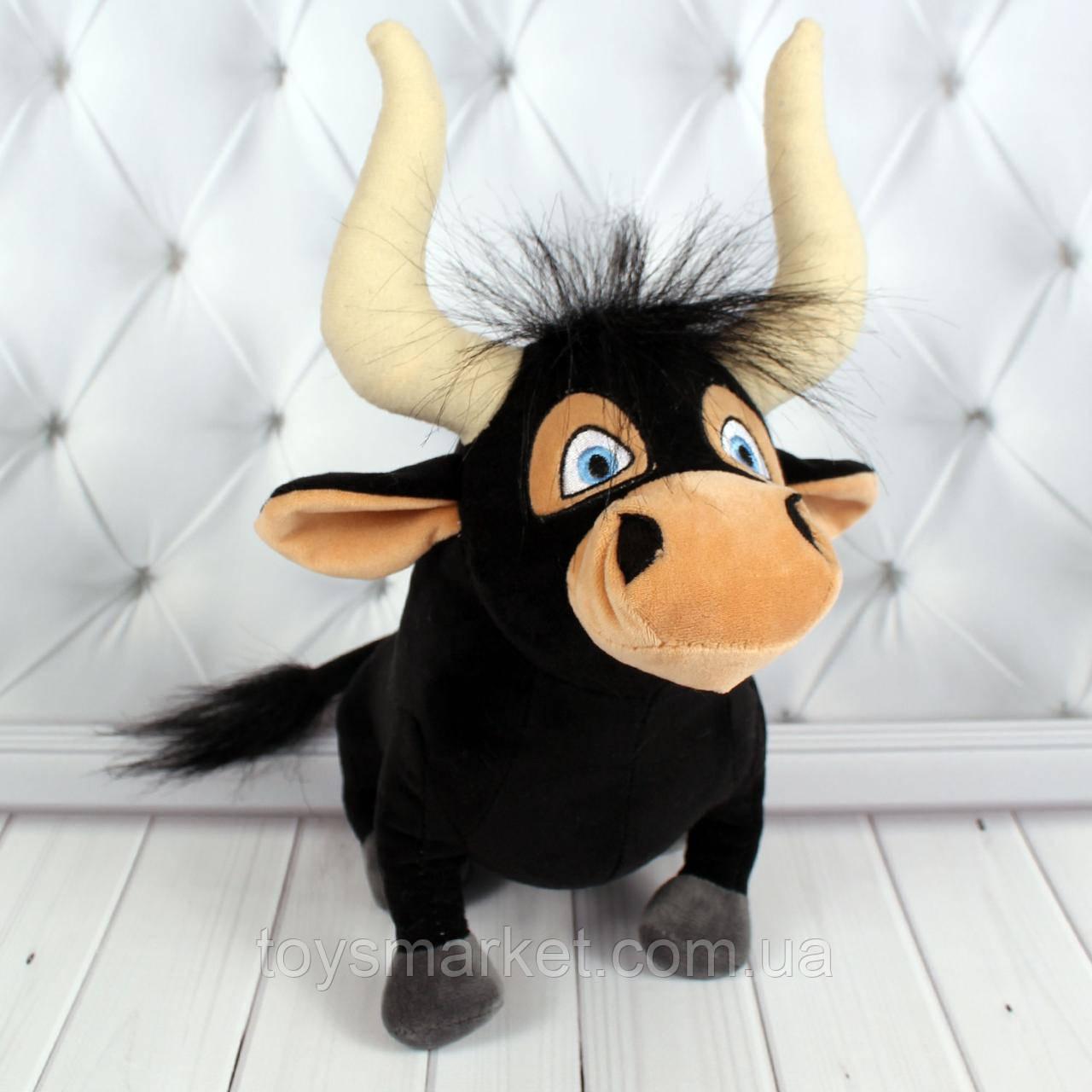 Мягкая игрушка бык Торнадо, плюшевый бычок 23 см.