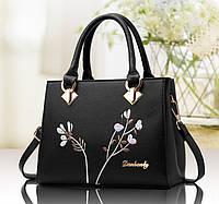 Стильная женская сумка с вышивкой. Мини сумочка через плечо вышивка цветы