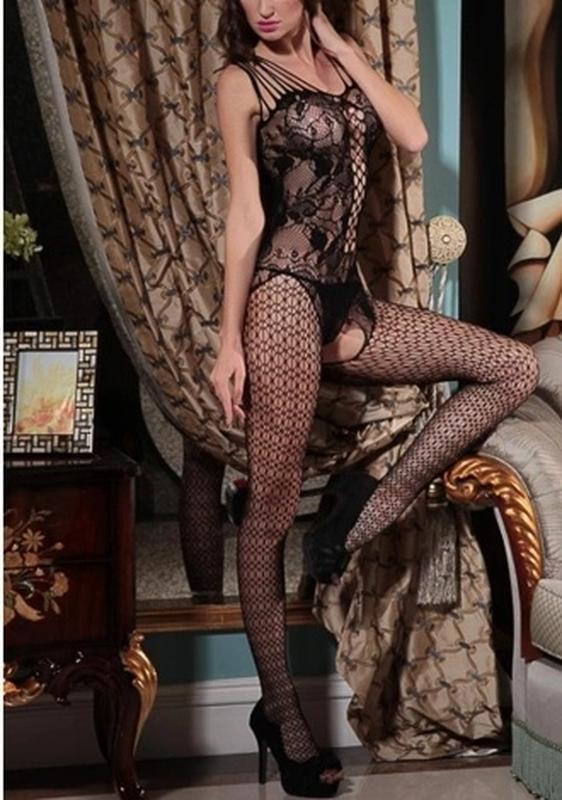 Сексуальная боди-сетка с рисунком в упаковке сексуальное белье/ эротическое белье