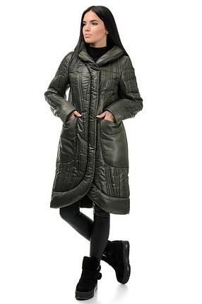 Пальто «Виола», 44-50, арт.256 хаки, фото 2
