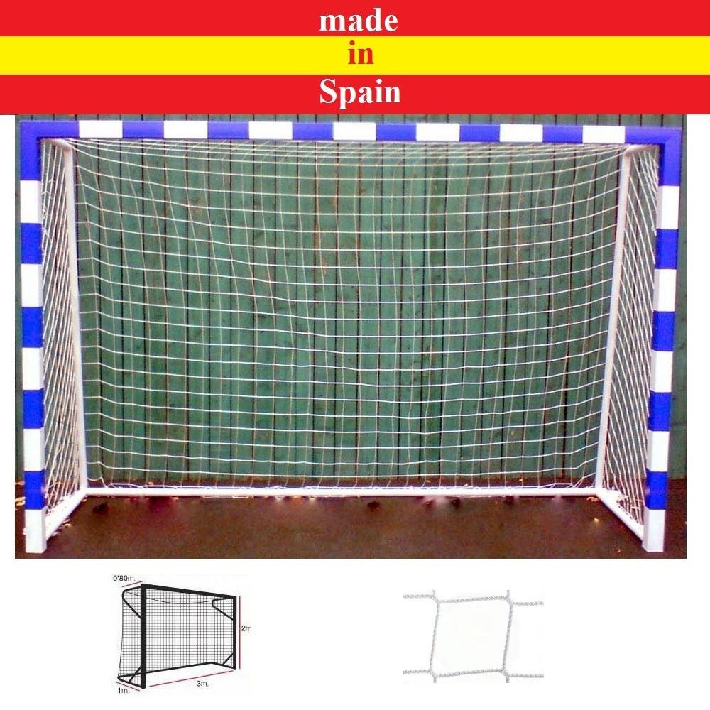 Професійна сітка на ворота 3х2 м. - міні-футбол, гандбол, шнур поліпропілен 5,5 мм. White (Іспанія)
