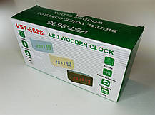 Электронные Настольные Часы VST-862S  бежевые,красная подсветка, фото 3