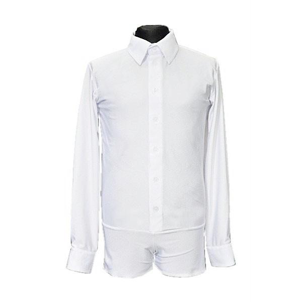 Рубашка мужская для бальных танцев SevenStore белая