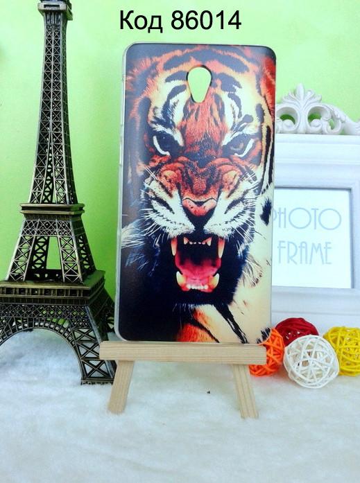 Чехол для lenovo s860 панель накладка с рисунком тигр