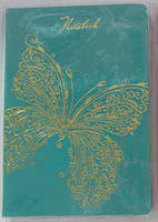 Блокнот в клетку на резинке Бабочка № WB-5610