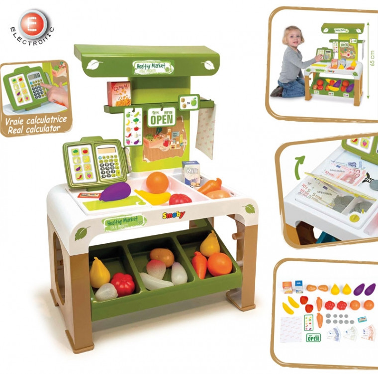 Игровой набор Супермаркет здоровой еды с электронной кассой Smoby 350200