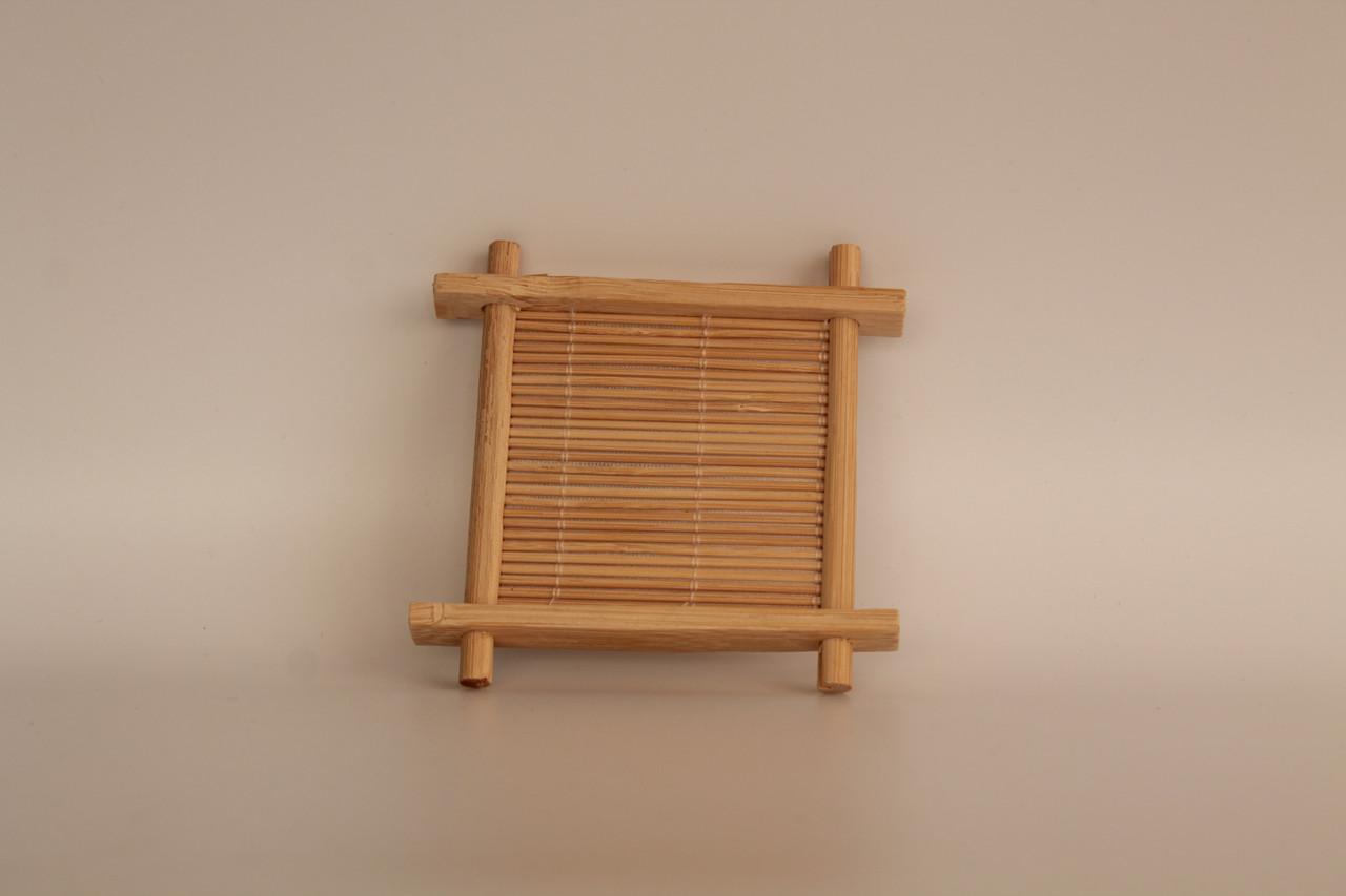 Подставка под пиалку бамбуковая