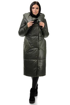 Пальто «Сьюзи»,44-50, арт.257 хаки, фото 2