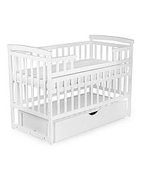 Кроватка с ящиком Лодочка DeSon Transformer Детский Сон ( 3 цвета) Белый