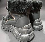Ботинки женские мех черные 36 размер, фото 3