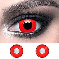 """Червоні контактні лінзи 14.5 мм. ELITE Lens """"Red"""" для косплею та на Хелловін (N0122)"""