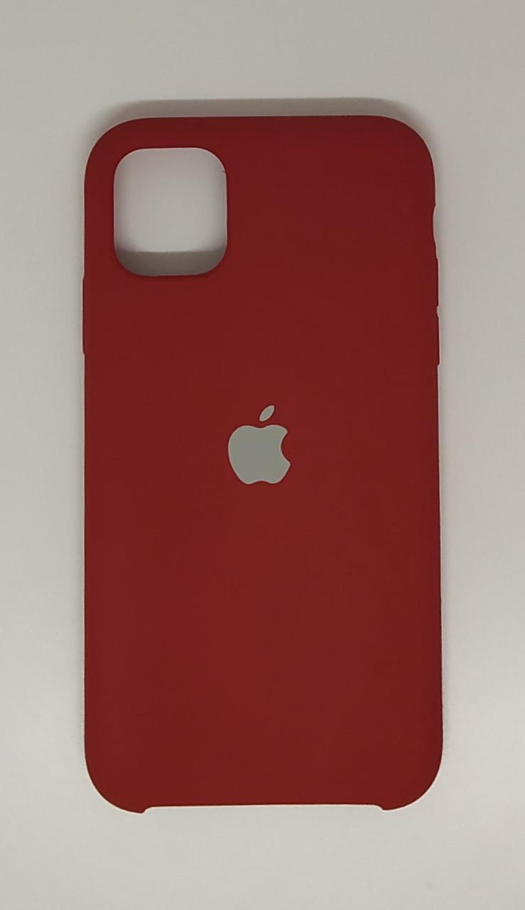 "Чехол Silicon iPhone 12 Mini - ""RED  №33"""