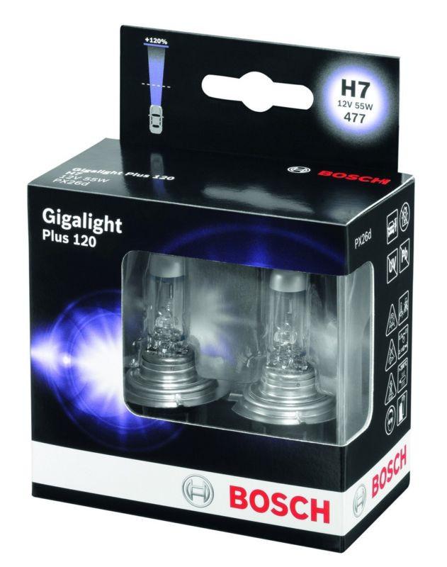 Автомобільні Лампочки Bosch h7 +120 комплект 2шт
