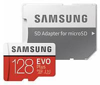 Карта памяти microSDXC 128GB Samsung EVO Plus UHS-I + SD адаптер