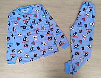 Пижама детская начес 28-34,тик-ток мелкий рисунок