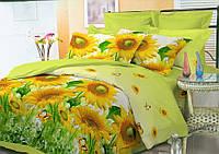 """Семейное постельное белье """"Эконом"""" с двумя пододеяльниками (14069) Бязь """"полиэстер"""""""