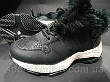 Ботинки женские мех черные РАЗМЕРЫ 38 И 39