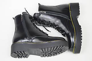 Ботинки с прошивкой Teona 20202 39 Черные кожа лак, фото 3