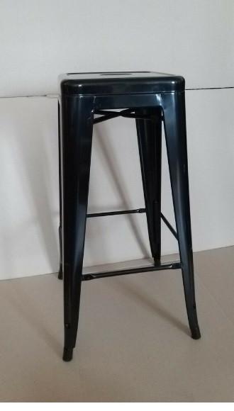 Штабельована барний стілець Толикс чорний метал від SDM Group, хокер