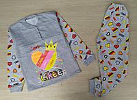 Пижама детская начес 36-38-40, 6-8 лет, likee
