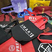 Еко сумка з логотипом спандбонд 38х41