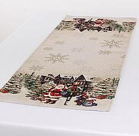 Раннер гобеленовый с люрексом Новогодний 100 х 40 см 732-065