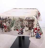 Скатерть гобеленовая с люрексом Новогодняя 140 х 140 см 732-062