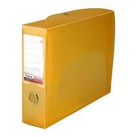 Папка-коробка сборная 70 мм, прозрачная оранжевая