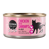 Консерви для кішок Cosma Thai Курка та Креветка 85г