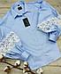 Блуза голубая 100% хлопок. BL03/029  INGVAR, фото 5