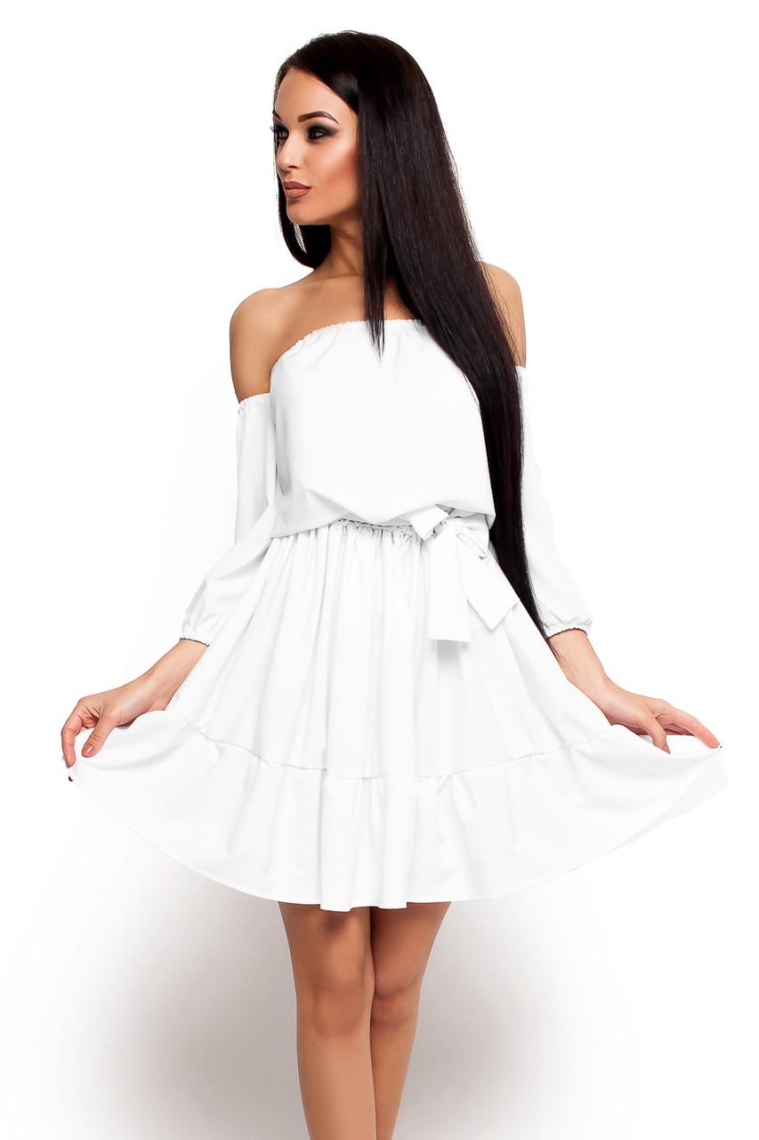 S-M | Жіноче літнє плаття Karlin, білий