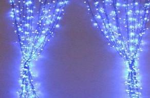 Светодиодная гирлянда 3м * 3м IP44 синяя Ecolend