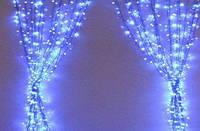 Светодиодная гирлянда штора 3м * 1м IP65 синяя