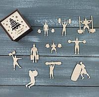 Набор ёлочных игрушек для стронгмена, подарок спортсмену, strongman gifts