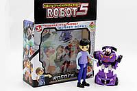 Трансформер ROБOT 5. Машина фиолетового цвета меняет форму, фото 1