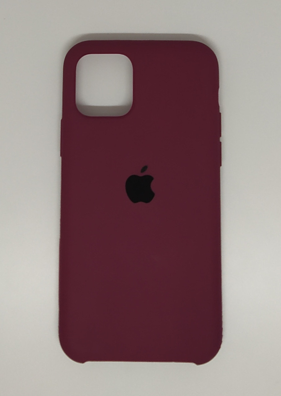 """Чехол Silicon iPhone 12 - """"Марсала №52"""""""