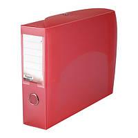 Папка-коробка сборная 70 мм, прозрачная красная