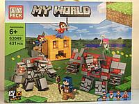 Конструктор PRCK Майнкрафт Редстоун Рейд, реплика Lego Minecraft, 431 деталь, фото 1