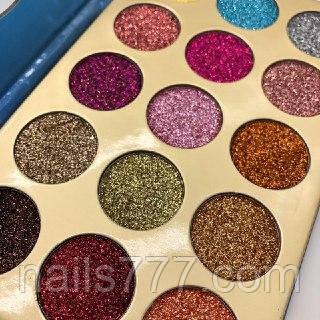 Набор теней Glitter,15 шт, фото 2
