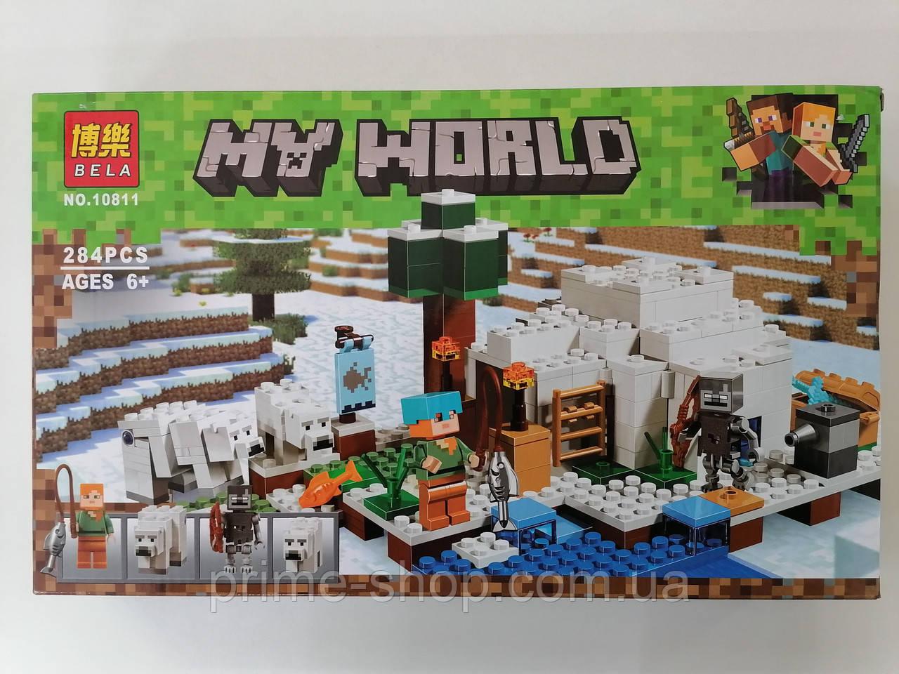 Конструктор Minecraft 10811 Полярное иглу 284 детали, в коробке